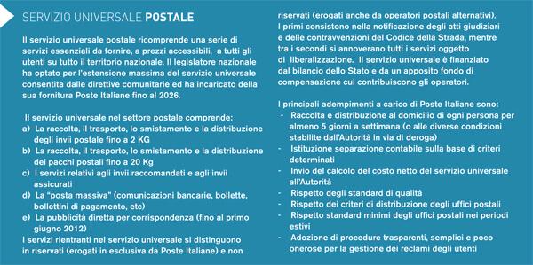 box servizio postale universale